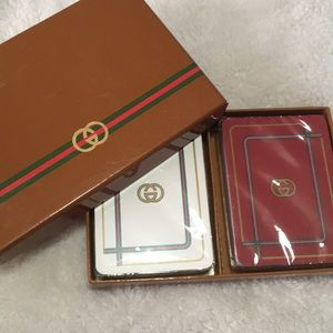 Gucci NIB playing cards two sets